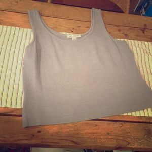 ST.JOHN Dusty Blue Knit Tank